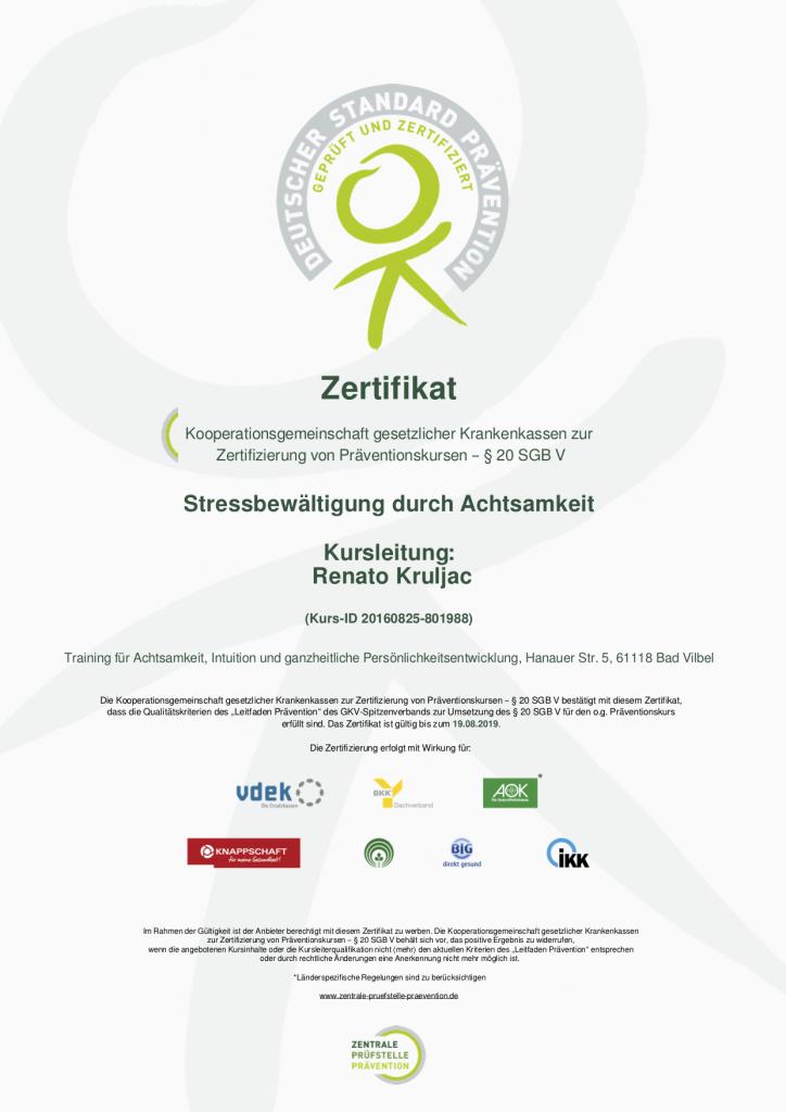 Zertifikat_Zentrale Prüfstelle Prävention